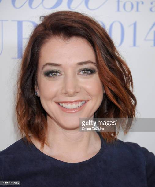 Actress Alyson Hannigan arrives at the 19th Annual Jonsson Cancer Center Foundation's Taste For A Cure at Regent Beverly Wilshire Hotel on April 25...