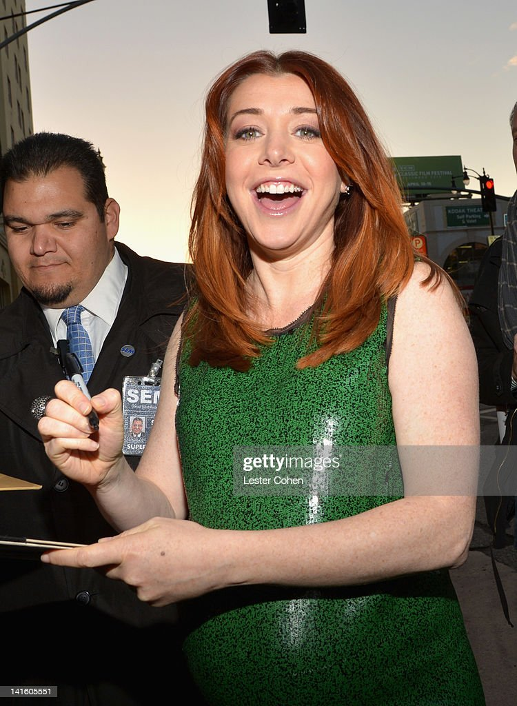 Actress Alyson Hannigan arrives at the 'American Reunion' Los Angeles Premiere March 19 2012 in Hollywood California