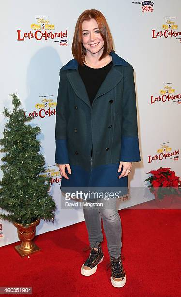 Actress Alyson Hannigan attends Disney On Ice presents Let's Celebrate at Staples Center on December 11 2014 in Los Angeles California