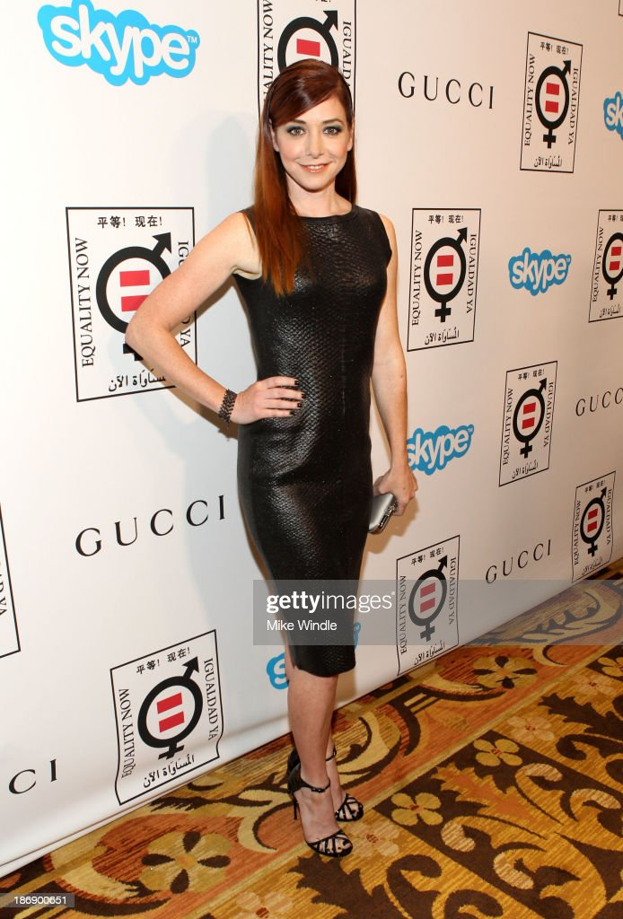 Actress <a gi-track='captionPersonalityLinkClicked' href=/galleries/search?phrase=Alyson+Hannigan&family=editorial&specificpeople=206497 ng-click='$event.stopPropagation()'>Alyson Hannigan</a> attends Equality Now presents 'Make Equality Reality' at Montage Hotel on November 4, 2013 in Los Angeles, California.