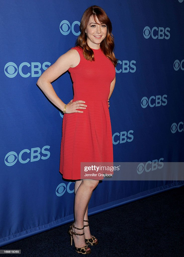 Actress Alyson Hannigan attends the CBS 2013 Upfront Presentation at The Tent at Lincoln Center on May 15, 2013 in New York City.