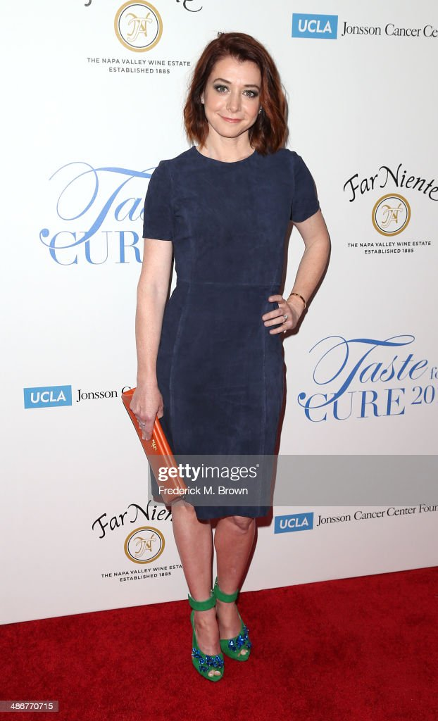 Actress <a gi-track='captionPersonalityLinkClicked' href=/galleries/search?phrase=Alyson+Hannigan&family=editorial&specificpeople=206497 ng-click='$event.stopPropagation()'>Alyson Hannigan</a> attends the Jonsson Cancer Center Foundation's 19th Annual 'Taste for a Cure' at the Regent Beverly Wilshire Hotel on April 25, 2014 in Beverly Hills, California.