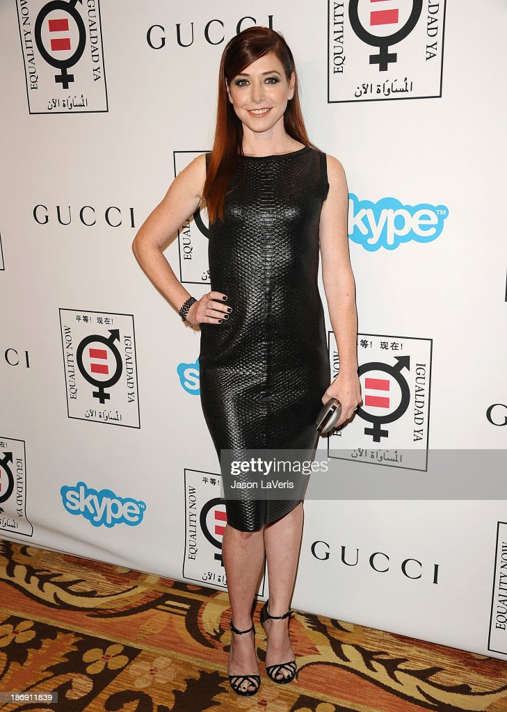 Actress <a gi-track='captionPersonalityLinkClicked' href=/galleries/search?phrase=Alyson+Hannigan&family=editorial&specificpeople=206497 ng-click='$event.stopPropagation()'>Alyson Hannigan</a> attends the 'Make Equality Reality' event at Montage Beverly Hills on November 4, 2013 in Beverly Hills, California.