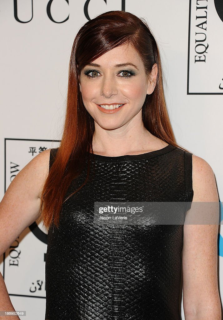 Actress Alyson Hannigan attends the 'Make Equality Reality' event at Montage Beverly Hills on November 4, 2013 in Beverly Hills, California.