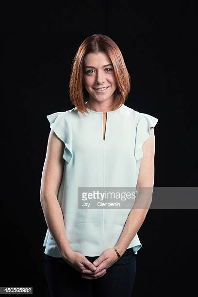Actress Alyson Hannigan is photographed for Los Angeles Times on April 28 2014 in Beverly Hills California PUBLISHED IMAGE CREDIT MUST READ Jay L...