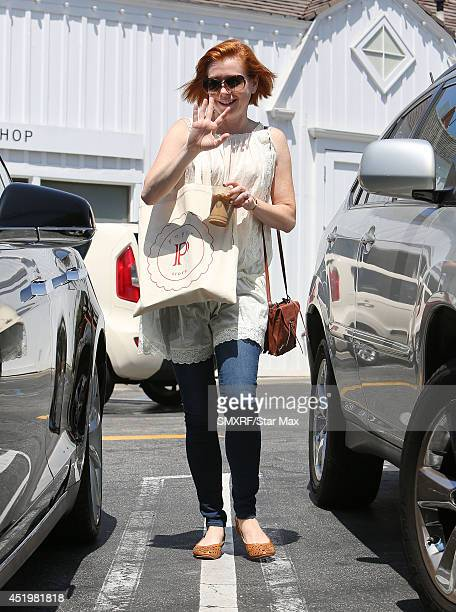 Actress Alyson Hannigan is seen on July 10 2014 in Los Angeles California