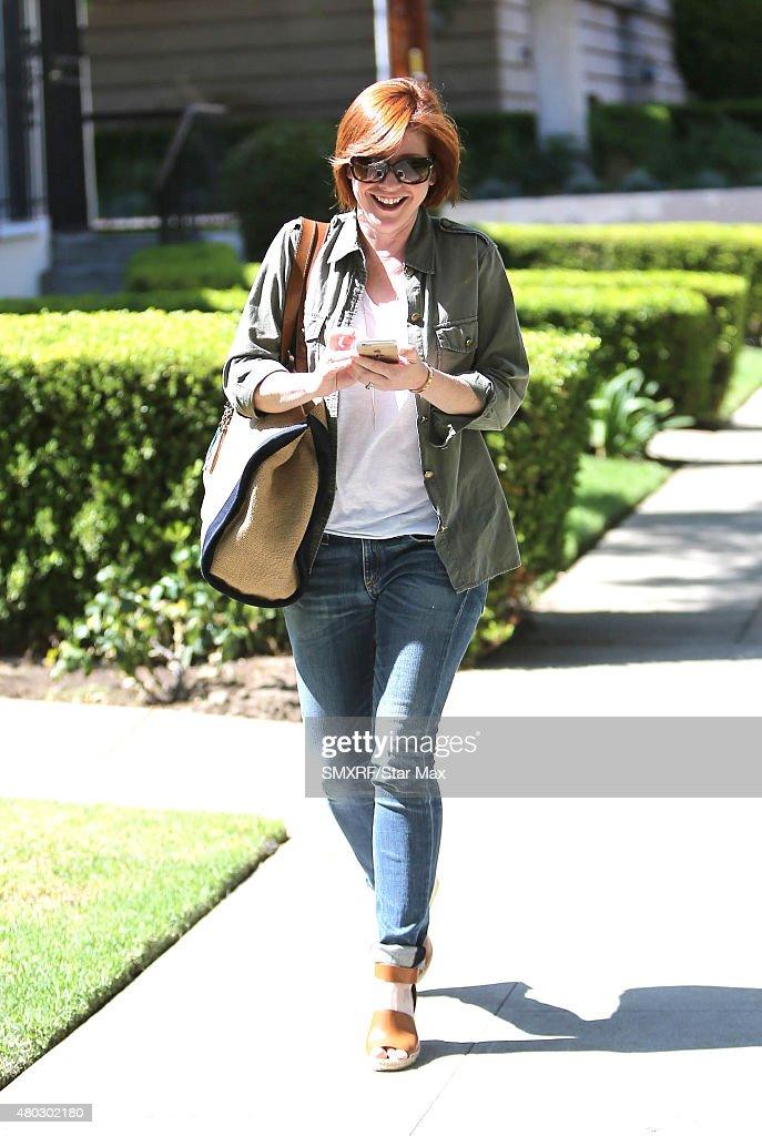Actress Alyson Hannigan is seen on July 10, 2015 in Los Angeles, California.