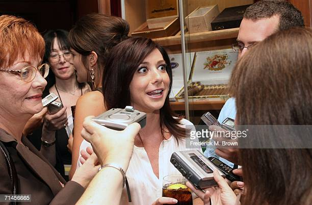 Actress Alyson Hannigan of the television show 'How I Met Your Mother' is interviewed at the 2006 Summer Television Critics Association Press Tour...