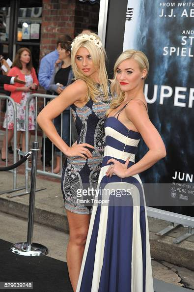 Actress' Alyson Michalka and Amanda Michalka arrive at the Premiere of Paramount Pictures' 'Super 8' held at the Regency Village Theater in Westwood