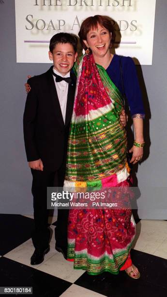 Actress Alyson Spiro who plays Sarah Sugden in the soap Emmerdale with actor Kevin Fletcher who won an award for his performance as Andy Hopwood in...