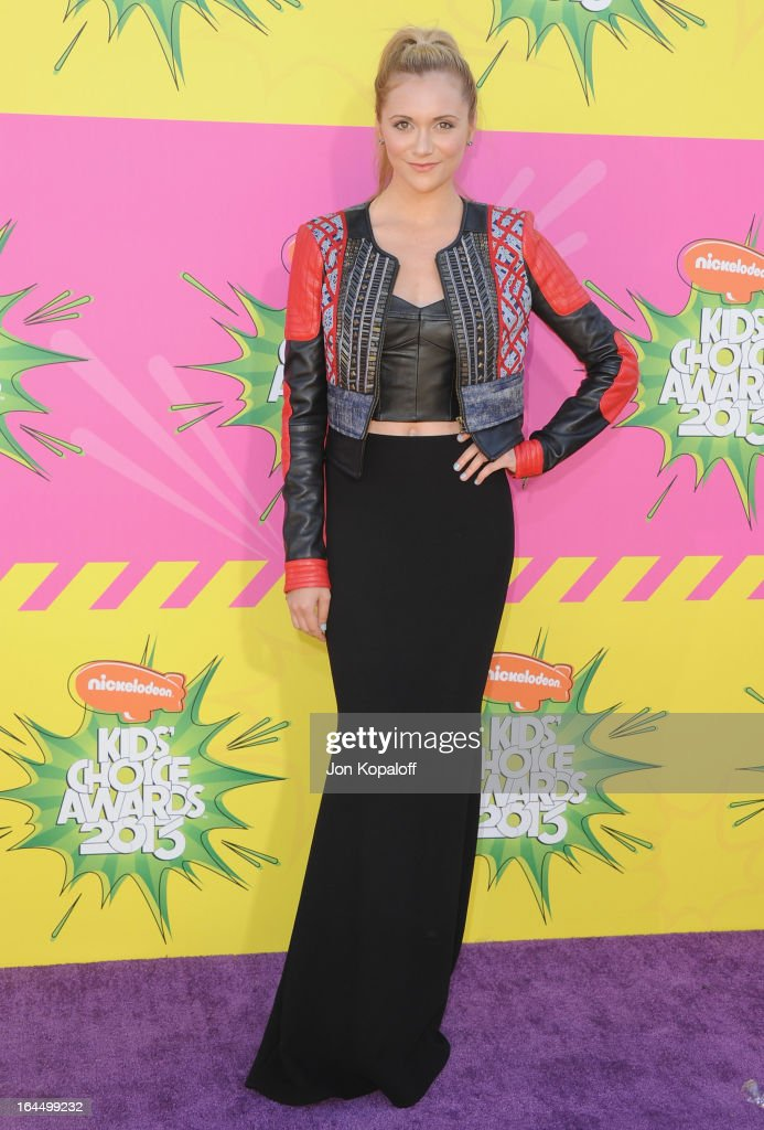 Actress Alyson Stoner arrives at Nickelodeon's 26th Annual Kids' Choice Awards at USC Galen Center on March 23, 2013 in Los Angeles, California.