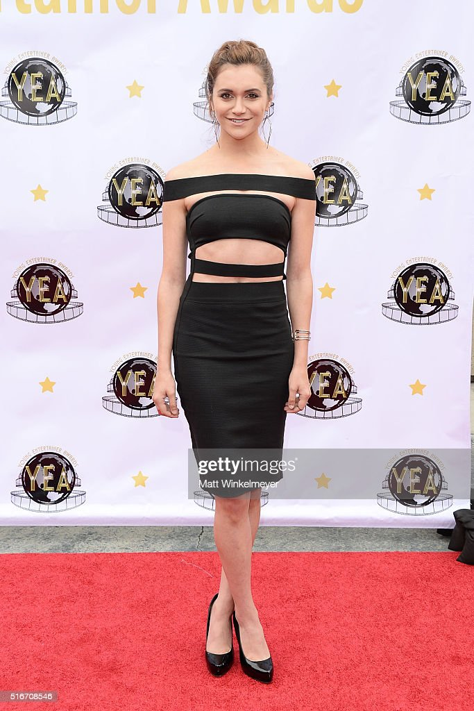 Actress Alyson Stoner arrives at the 1st annual Young Entertainer Awards at The Globe Theatre at Universal Studios on March 20 2016 in Universal City...