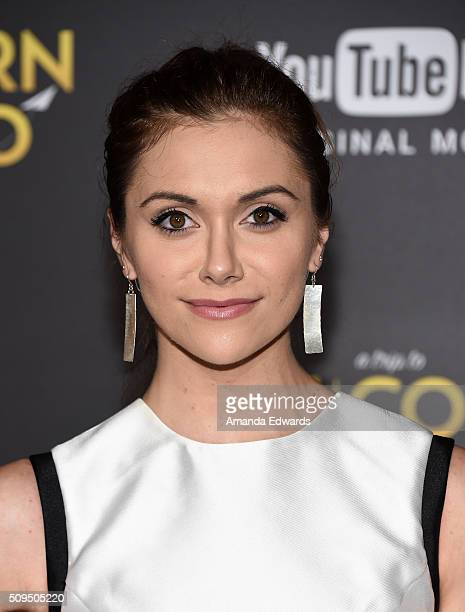 Actress Alyson Stoner arrives at the premiere of 'A Trip To Unicorn Island' at TCL Chinese Theatre on February 10 2016 in Hollywood California