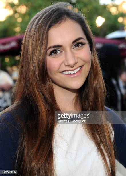 Actress Alyson Stoner arrives at the premiere of IndustryWorks' 'The Perfect Game' on April 5 2010 in Los Angeles California