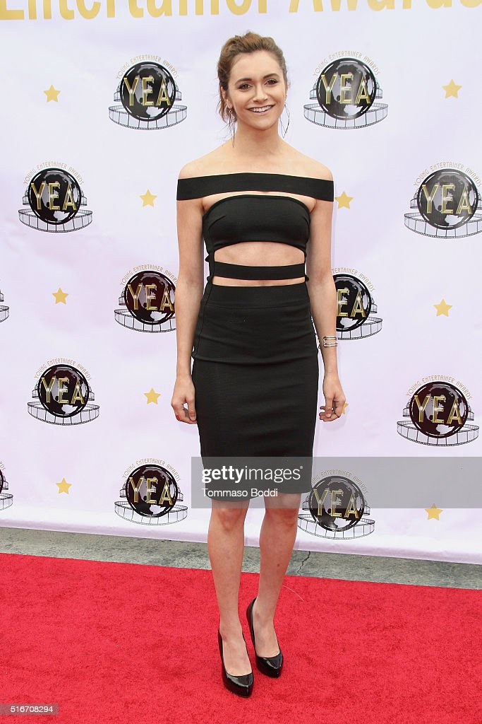 Actress Alyson Stoner attends the 1st Annual Young Entertainer Awards at The Globe Theatre at Universal Studios on March 20 2016 in Universal City...