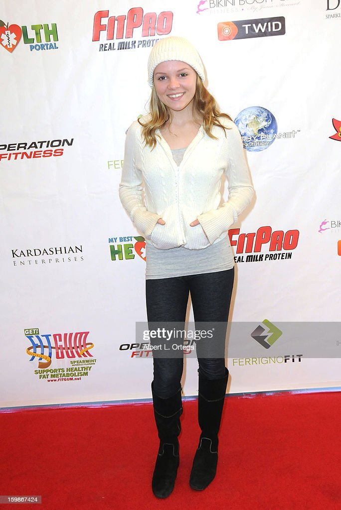 Actress Alyssa Elle participates in the Red Carpet Health Expo held at The Vitamin Shoppe on January 12, 2013 in Los Angeles, California.