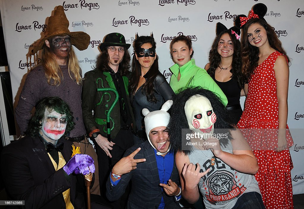 Actress Alyssa Esposito, actress Taylor Hay, actor Anthony Guajardo and Noah Dahl with Lunar Rogue arrive for the CD Release And Halloween Costume Party For Lunar Rogue on October 26, 2013 in Beverly Hills, California.