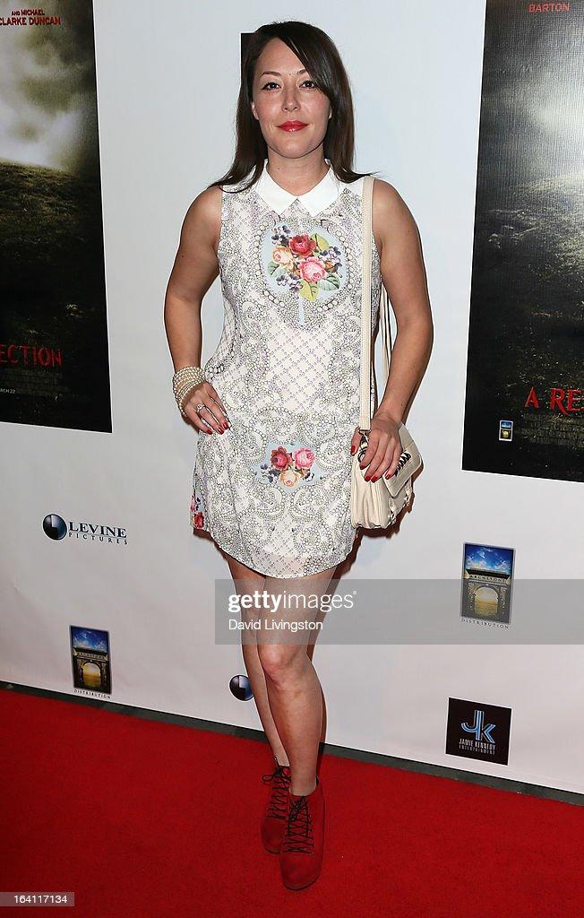 Actress Alyssa Lobit attends the premiere of 'A Resurrection' at ArcLight Sherman Oaks on March 19, 2013 in Sherman Oaks, California.