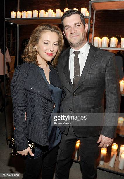Actress Alyssa Milano and Dave Bugliari attend Hollywood Stands Up To Cancer Event with contributors American Cancer Society and Bristol Myers Squibb...