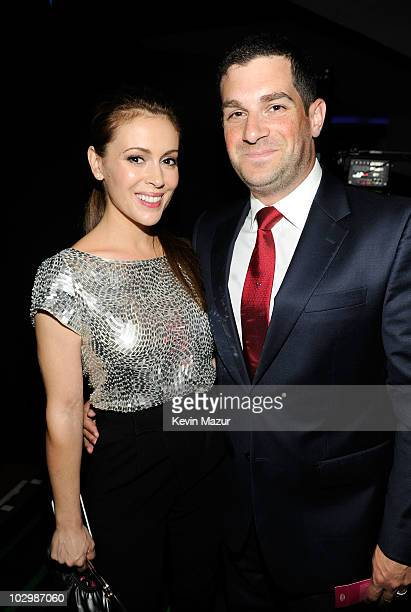 Actress Alyssa Milano and David Bugliari attend the 2010 VH1 Do Something Awards held at the Hollywood Palladium on July 19 2010 in Hollywood...