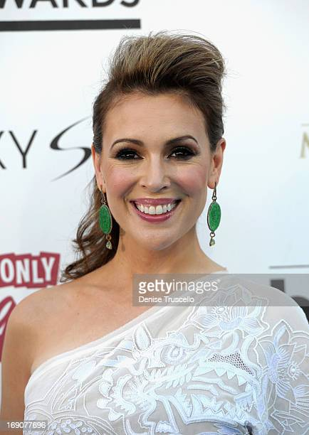 Actress Alyssa Milano arrives at the 2013 Billboard Music Awards at the MGM Grand Garden Arena on May 19 2013 in Las Vegas Nevada
