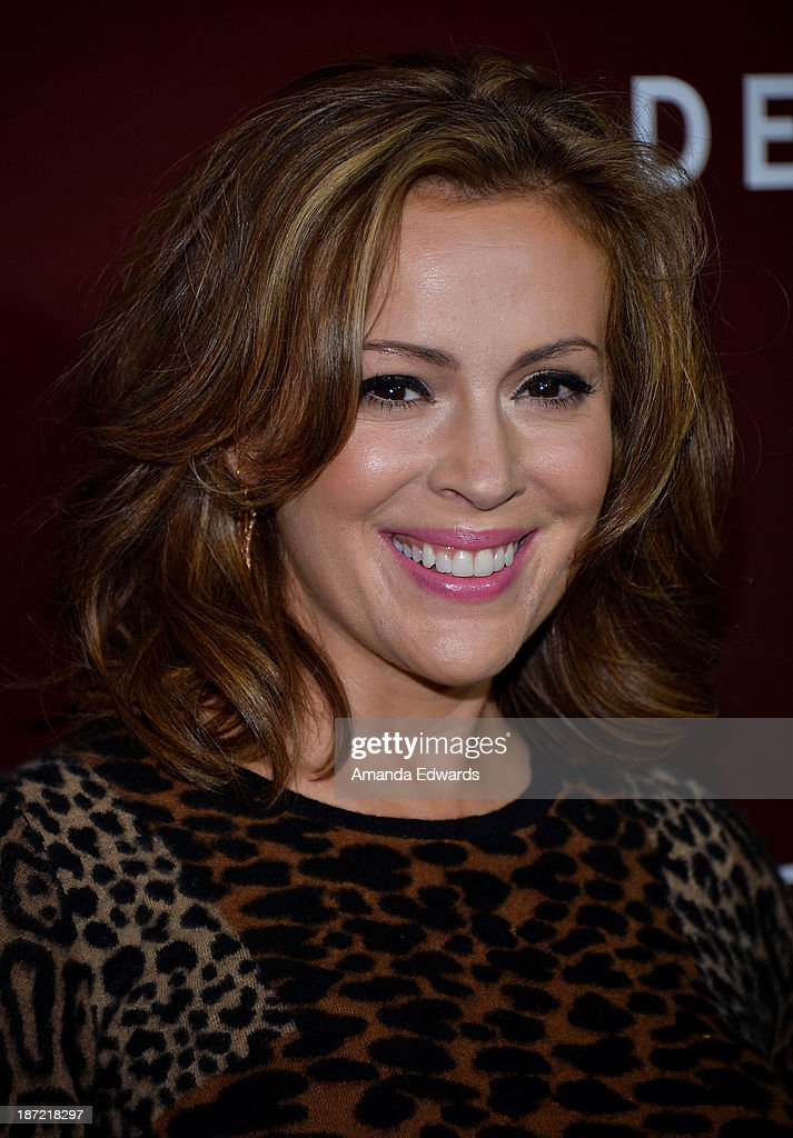 Actress <a gi-track='captionPersonalityLinkClicked' href=/galleries/search?phrase=Alyssa+Milano&family=editorial&specificpeople=203329 ng-click='$event.stopPropagation()'>Alyssa Milano</a> arrives at The Hollywood Reporter's Next Gen 20th Anniversary Gala at the Hammer Museum on November 6, 2013 in Westwood, California.