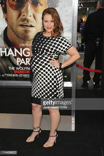 Actress Alyssa Milano arrives at the premiere of Warner Bros 'The Hangover Part II' at Grauman's Chinese Theatre on May 19 2011 in Hollywood...