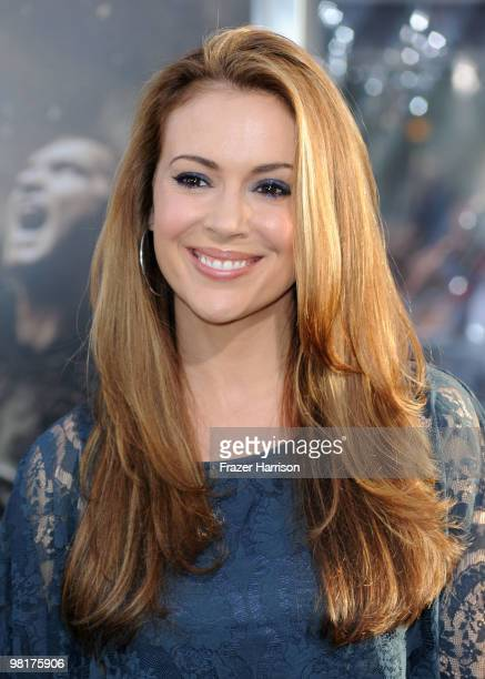 Actress Alyssa Milano arrives to the premiere of Warner Bros 'Clash Of The Titans' held at Grauman's Chinese Theatre on March 31 2010 in Los Angeles...