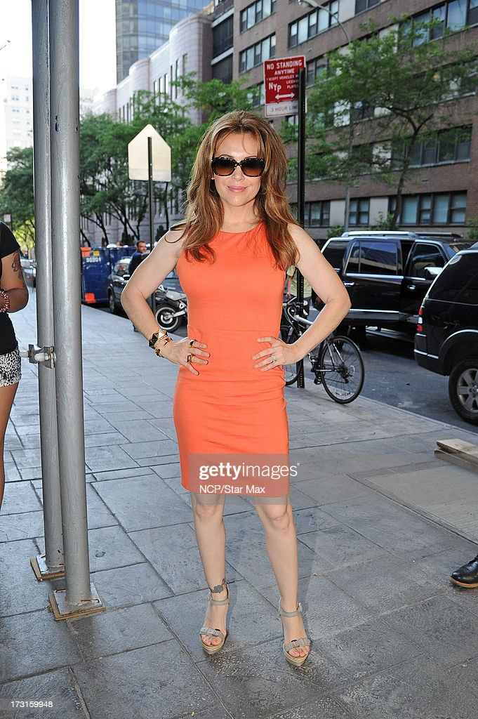 Actress Alyssa Milano as seen on July 8, 2013 in New York City.