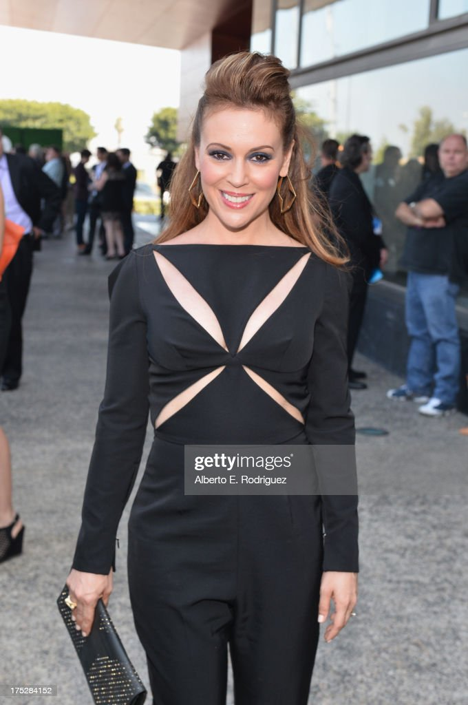 Actress Alyssa Milano attends CW Network's 2013 Young Hollywood Awards presented by Crest 3D White and SodaStream held at The Broad Stage on August 1, 2013 in Santa Monica, California.