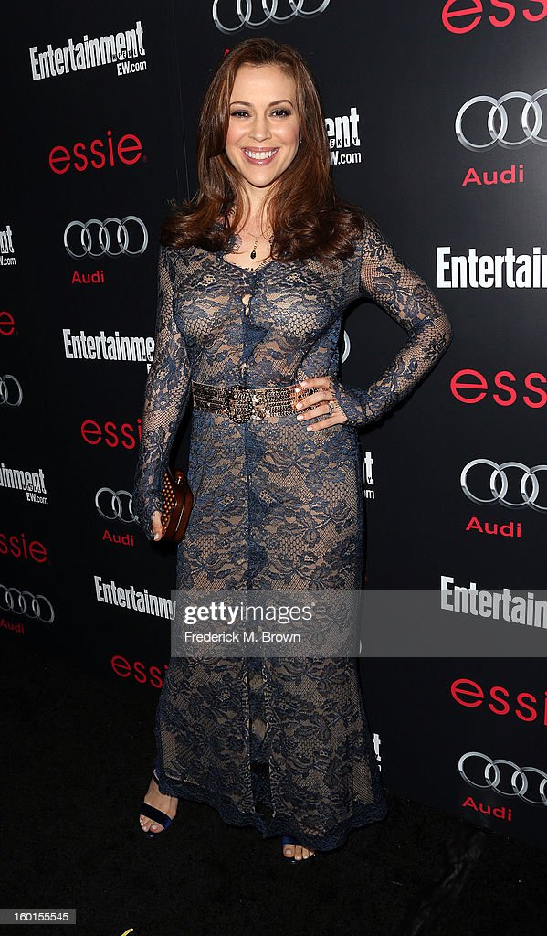 Actress Alyssa Milano attends Entertainment Weekly Screen Actors Guild Awards Pre-Party at Chateau Marmont on January 26, 2013 in Los Angeles, California.
