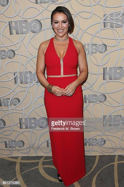 Actress Alyssa Milano attends HBO's Official Golden Globe Awards After Party at Circa 55 Restaurant on January 8 2017 in Beverly Hills California
