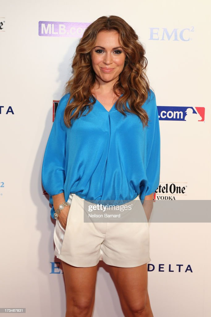Actress Alyssa Milano attends Major League Baseball's All Star Bash presented by MLB.com, Delta and Nivea at Roseland Ballroom on July 14, 2013 in New York City.