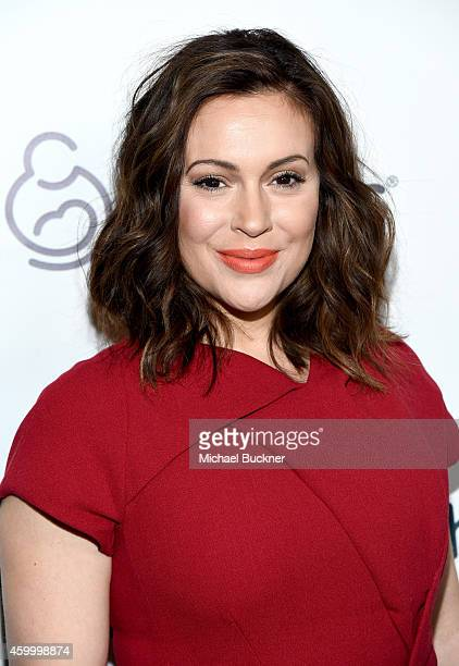 Actress Alyssa Milano attends March of Dimes' Celebration of Babies A Hollywood Luncheon at the Beverly Wilshire Hotel on December 5 2014 in Beverly...
