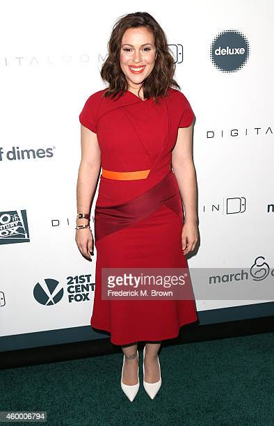 Actress Alyssa Milano attends the 2014 March of Dimes Celebration of Babies benefit at the Regent Beverly Wilshire Hotel on December 5 2014 in...