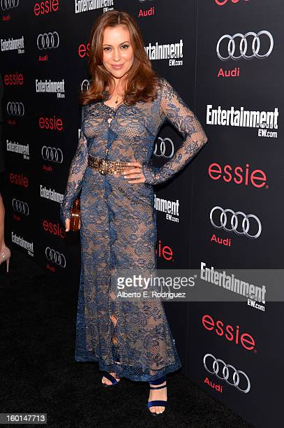 Actress Alyssa Milano attends the Entertainment Weekly PreSAG Party hosted by Essie and Audi held at Chateau Marmont on January 26 2013 in Los...
