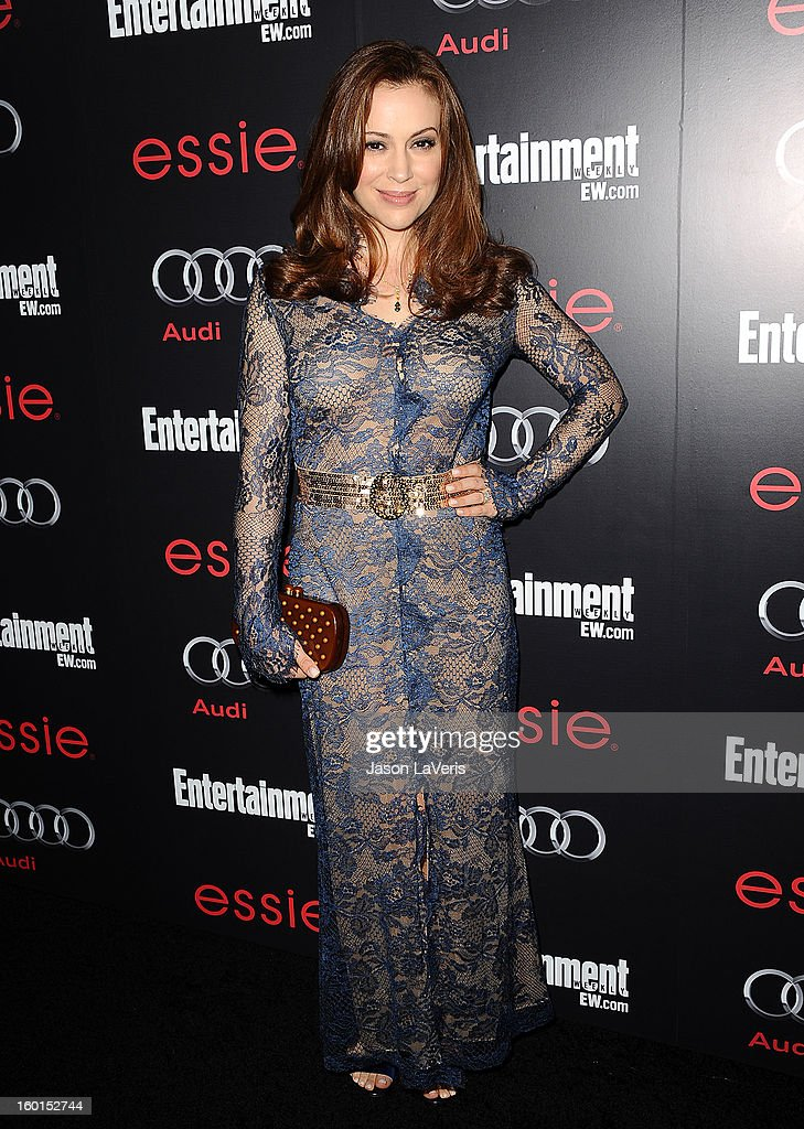 Actress Alyssa Milano attends the Entertainment Weekly Screen Actors Guild Awards pre-party at Chateau Marmont on January 26, 2013 in Los Angeles, California.