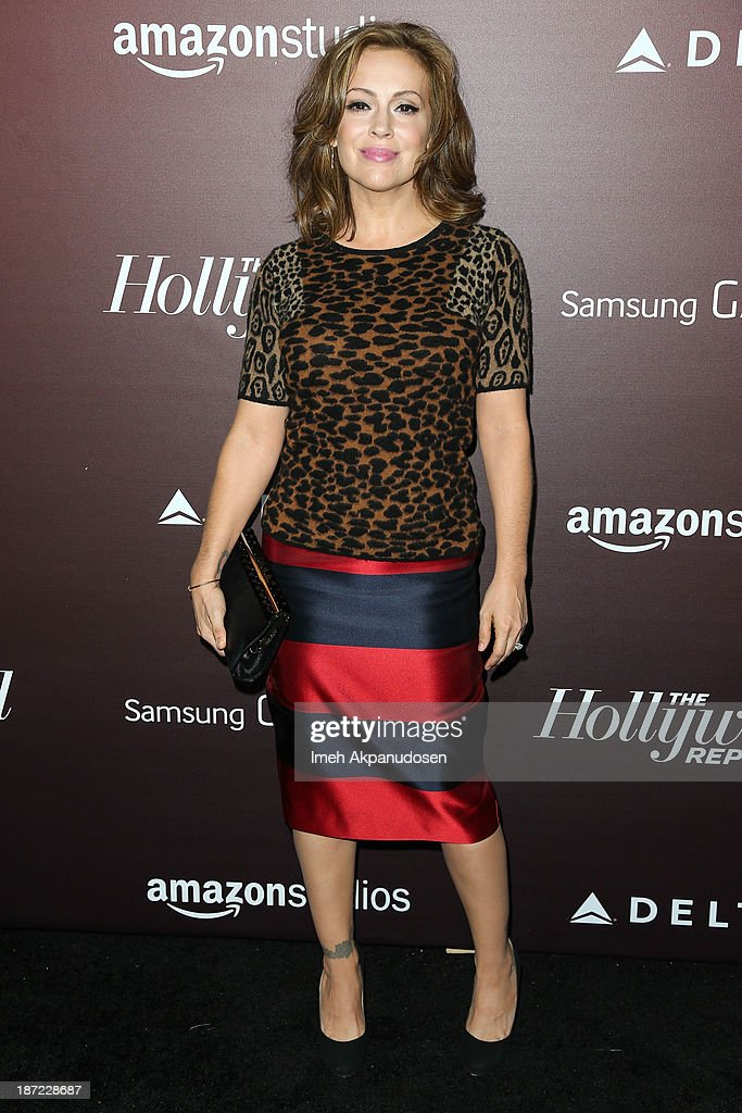 Actress <a gi-track='captionPersonalityLinkClicked' href=/galleries/search?phrase=Alyssa+Milano&family=editorial&specificpeople=203329 ng-click='$event.stopPropagation()'>Alyssa Milano</a> attends The Hollywood Reporter's 'Next Gen' 20th Anniversary Gala at Hammer Museum on November 6, 2013 in Westwood, California.