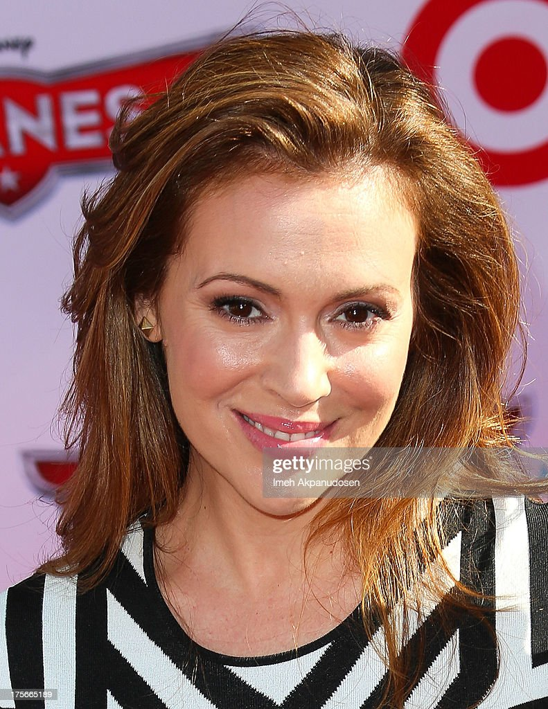 Actress Alyssa MIlano attends the premiere of Disney's 'Planes' at the El Capitan Theatre on August 5, 2013 in Hollywood, California.