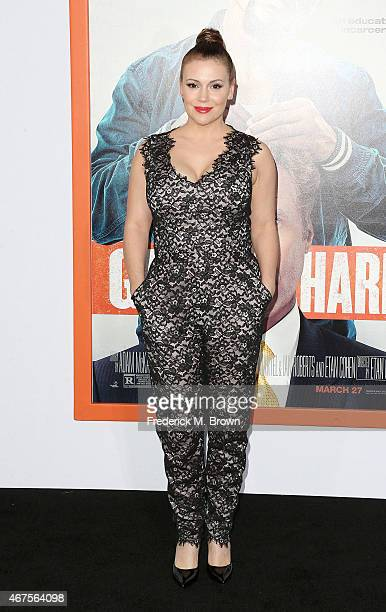 Actress Alyssa Milano attends the Premiere of Warner Bros Pictures' 'Get Hard' at the TCL Chinese Theatre IMAX on March 25 2015 in Hollywood...