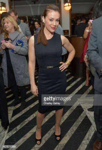 "Actress Alyssa Milano attends Vanity Fair and the Fiat brand Celebration of ""Una Notte Verde"" with Hans Zimmer and Ron Howard in support of The..."