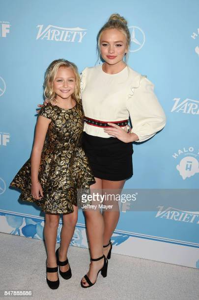 Actress Alyvia Alyn Lind and guest arrive at the Variety And Women In Film's 2017 PreEmmy Celebration at Gracias Madre on September 15 2017 in West...