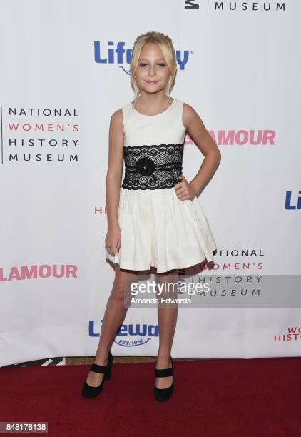 Actress Alyvia Alyn Lind arrives at the 6th Annual Women Making History Awards at The Beverly Hilton Hotel on September 16 2017 in Beverly Hills...