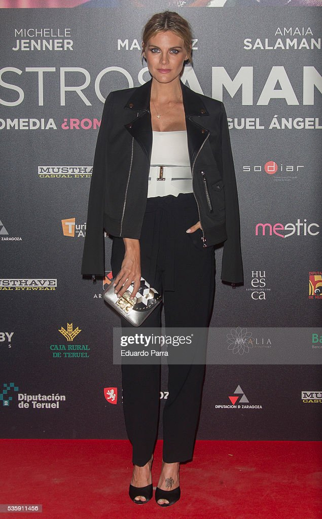 Actress <a gi-track='captionPersonalityLinkClicked' href=/galleries/search?phrase=Amaia+Salamanca&family=editorial&specificpeople=5084489 ng-click='$event.stopPropagation()'>Amaia Salamanca</a> attends the 'Nuestros Amantes' premiere at Palafox cinema on May 30, 2016 in Madrid, Spain.