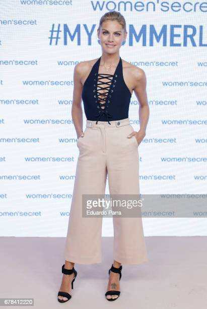 Actress Amaia Salamanca attends the 'Women'secret summer campaign' photocall at Mr Fox studio on May 4 2017 in Madrid Spain