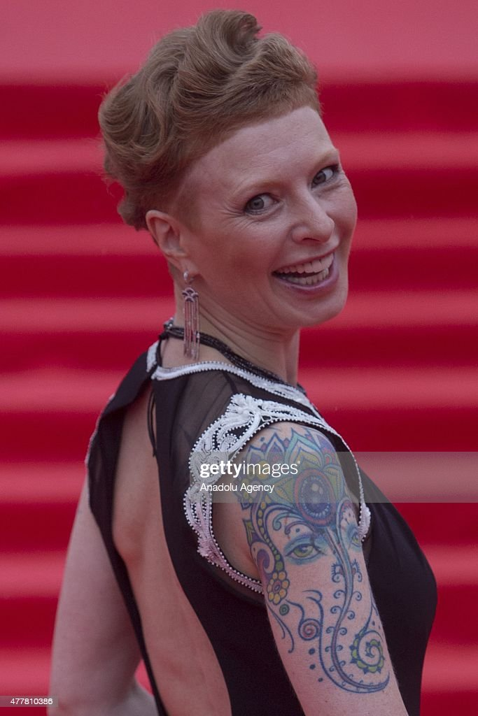 Actress Amalia Mordvinova is seen during at the opening ceremony of the 37th Moscow International Film Festival in Moscow Russia on June 2015