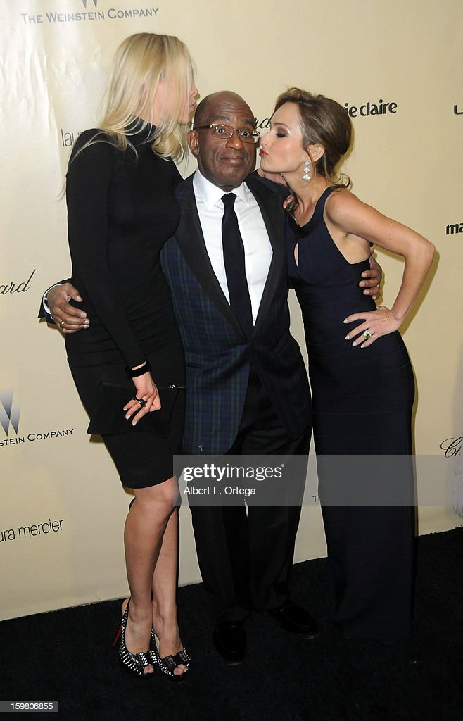 Actress Amalie Wichmann, TV personality Al Roker and TV personality Giada De Laurentiis arrive for the Weinstein Company's 2013 Golden Globe Awards After Party - Arrivals on January 13, 2013 in Beverly Hills, California.