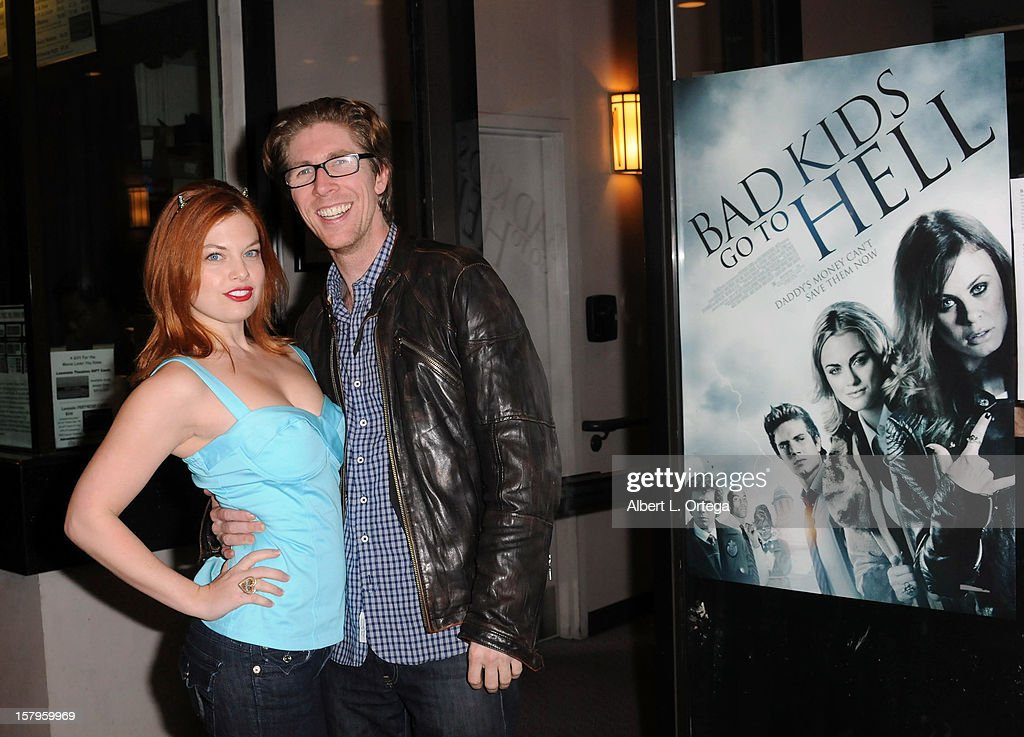 Actress Amanda Alch and director Matthew Spradlin arrive for the Screening Of 'Bad Kids Go To Hell' held at Laemmle Music Hall Theater on December 7, 2012 in Beverly Hills, California.