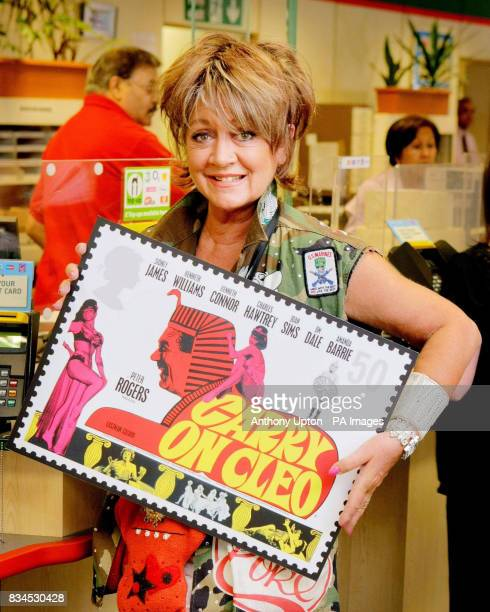 Actress Amanda Barrie who played Cleo in Carry On Cleo launches the Royal Mail's new stamp series celebrating the 50th anniversary of the Carry On...