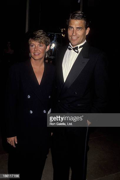 Actress Amanda Bearse and actor Ted McGintley attending 49th Annual Golden Globe Awards on January 18 1992 at the Beverly Hilton Hotel in Beverly...